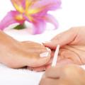 filing toenails