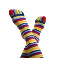 colorful toe socks