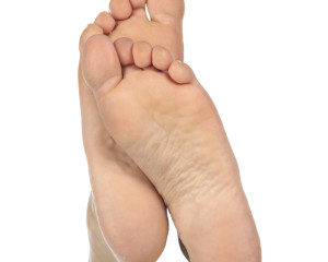 bottoms of healthy feet